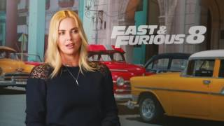 Jason Statham​ and Charlize Theron​ talk fighting, crushes and more for Fast & Furious 8