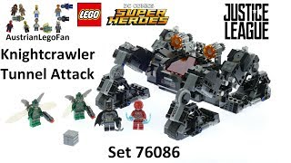 Lego Super Heroes 76086 Knightcrawler Tunnel Attack - Lego Speed Build Review