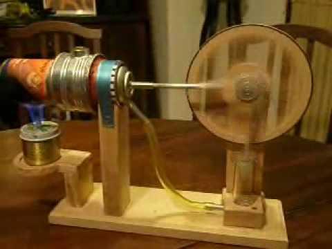 Motor Stirling hecho en casa Desplazador horizontal