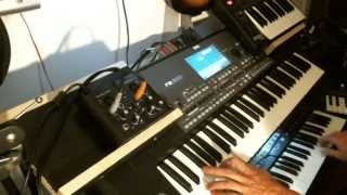 Trying new style on Korg Pa600 with support midi controllers.