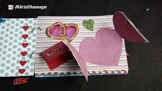 Valentine's Day Gift Idea | How to make a Scrapbook |  DIY Scrapbook Tutorial | JK Arts 861