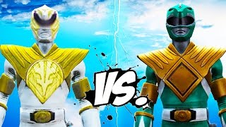 GREEN RANGER VS WHITE RANGER - MIGHTY MORPHIN POWER RANGERS BATTLE