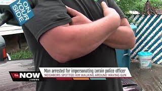 Lorain Police arrest fake cop with pellet g