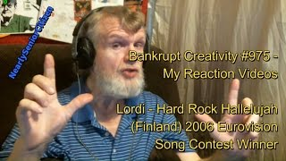 Lordi - Hard Rock Hallelujah : Bankrupt Creativity #975 - My Reaction Videos
