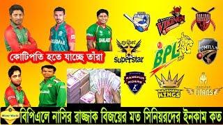 কোটি টাকার বেশি পারিশ্রমিক পাচ্ছেন নাসির, রাজ্জাক, মমিনুল,এনামুল, ইমরুল Nasir in BPL | BPL News