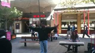 Funny aboriginal singing and dancing