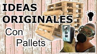11 Manualidades Con PALLETS PASO A PASO ( IDEAS CREATIVAS Y ORIGINALES PARA RECICLAR PALETS)