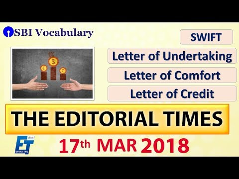 Xxx Mp4 SWIFT Letter Of Undertaking Comfort Credit The Hindu The Editorial Times 17th March 3gp Sex