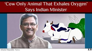 'Cow Only Animal That Exhales Oxygen,' Says Indian Minister 🐄