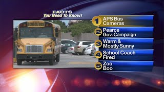 October 17th Morning Rush: Security cameras to be added to 70 Albuquerque Public School buses