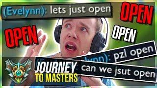 OPEN MID!! OPN MID!! PZL OPEN.. LET'S F*KIN OPEN!?  - Journey To Masters #43 S7 - League of Legends