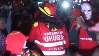 Jubilee supporters celebrate President Kenyatta win
