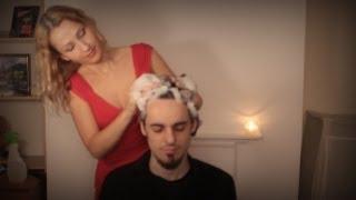 Gentle HAIR WASH with ≋B≋U≋B≋B≋L≋E≋ sounds: ASMR hair brushing, spraying, washing and scalp massage