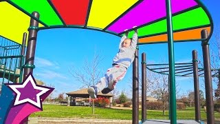 Fun Super AMAZING Playground in America Max Cute Boy Playing at Kids Playground For The First Time