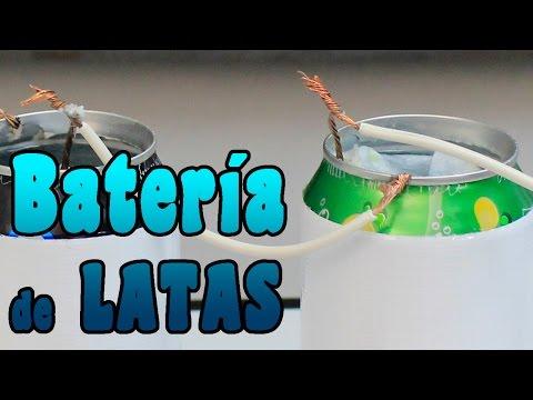 Como hacer una bateria o pila usando latas │ Experimento Fácil