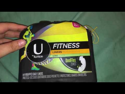U by Kotex - Fitness Panty Liners - Unboxing