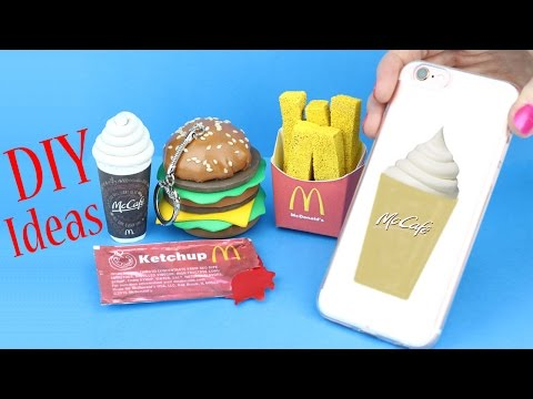 watch DIY School Supplies - 5 McDonald's DIYs (Slime Phone Case, Mini Notebook, Pencil,   Pen & Eraser...)