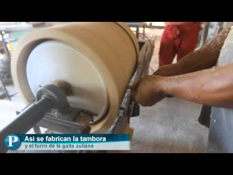 Fabricar la tambora arte en el golpe de la gaita