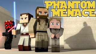 Minecraft Parody - STAR WARS: THE PHANTOM MENACE! - (Minecraft Animation)