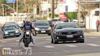 Bikers 73 - Suzuki vs. Camaro, Daytona Burnout, Honda CBR HRC, Repsol, Yamaha, BMW Sounds & Stunts