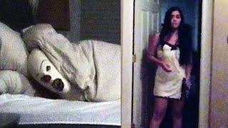 Killer Clown Prank On Sleeping GirlFriend