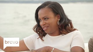 RHOA: Kandi Burruss Grills Cynthia Bailey's New Man (Season 10, Episode 7) | Bravo