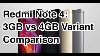 Redmi Note 4 3GB vs 4GB Multitasking and NAND Storage Speed Comparison