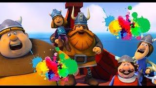 Vikingler çizgi film izle - Renkleri öğreniyorum