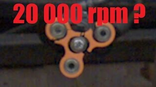 How Fast Can a Fidget Spinner Spin? (Before Exploding)