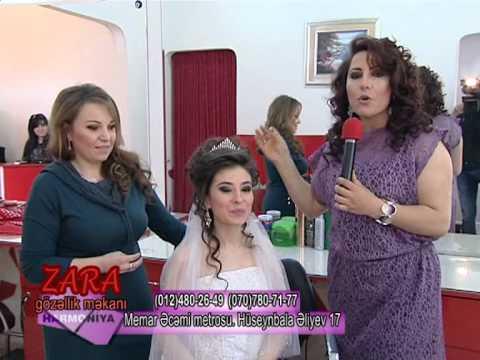 2013 cü ilin gəlinlik ziyafət saç və makiyajları Zara gözəllik salonunda