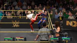 WWE2k17 Billie Kay & Peyton Royce vs Aliyah & Liv Morgan