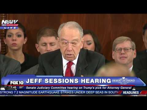 WATCH Jeff Sessions Testifies at Attorney General Confirmation Hearing Amid Protests PART 1