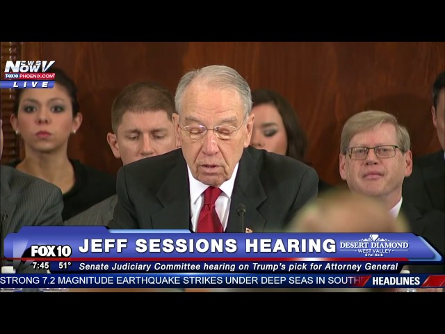 PART 1: Jeff Sessions Testifies at Attorney General Confirmation Hearing Amid Protests -FNN