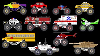 Monster Vehicles - Monster Truck, Monster Car & More - The Kids