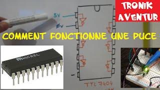 TRONIK AVENTUR 24 - PUCE TTL 7404 - PORTE NON - ELECTRONIQUE POUR LES NULS