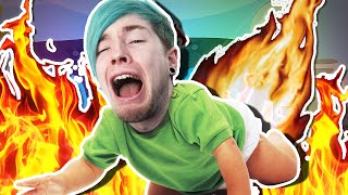 BABY CAUGHT ON FIRE!! | Roblox