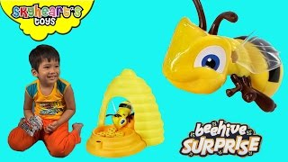 Toddler scared from BEEHIVE SURPRISE - Tabletop Games for Kids playtime family children insect toys