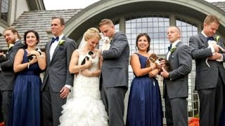 Why This Bride Ditched Her Bouquets For Adorably Tiny Rescue Puppies
