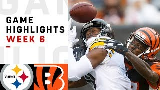 Steelers vs. Bengals Week 6 Highlights | NFL 2018