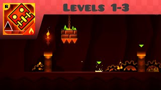 Geometry Dash Meltdown - Levels 1-3 (All Coins)