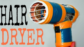 How to make a Powerful Hair Dryer  | Simple and Easy | DIY | Double Fan |