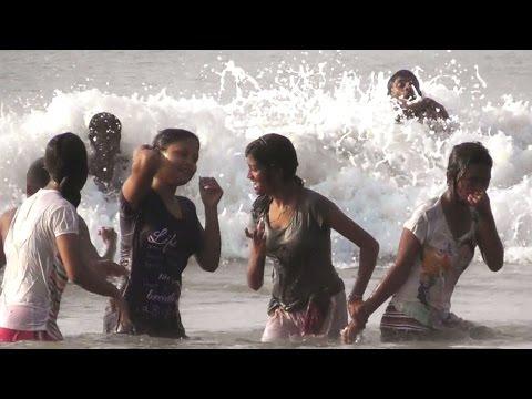 Beautiful sea bath in Digha sea beach