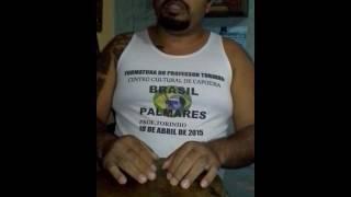 Toques de atabaque na capoeira Prof. Torinho