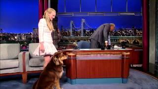 Amanda Seyfried on David Letterman Show (Dog Trick)