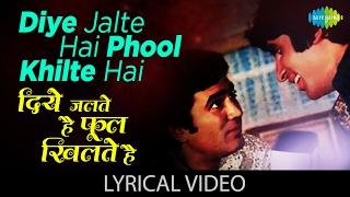 Diye Jalte Hai With Lyrics         Namak Haraam  Rajesh Khannaamitabh Bachchan