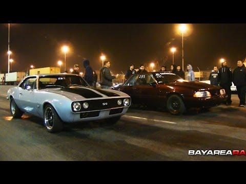 BBC Camaro vs Nitrous Mustang