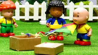 Funny Animated cartoons Kid | Bad Caillou flies his Kite | STOP MOTION VIDEOS | Cartoon for Children