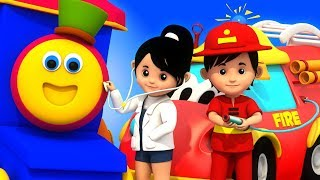 Community Helpers   Learning Street With Bob   Word Play   Children Learning Video by Kids Tv