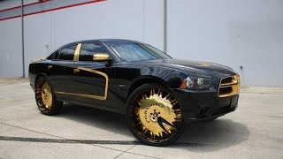 WhipAddict: Dodge Charger RT on Gold Forgiato Enzo-L 30s at Undrground Rim King