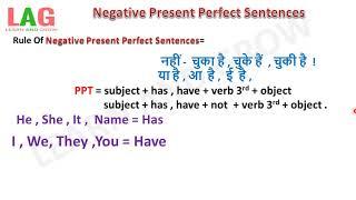 Negative Present Perfect Sentences (Hindi)